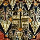 Pontifical rouge (détail de chape) ; conception Dom Henri de Laborde