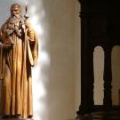 Statue de Saint Benoît (chœur) ; art beuronien