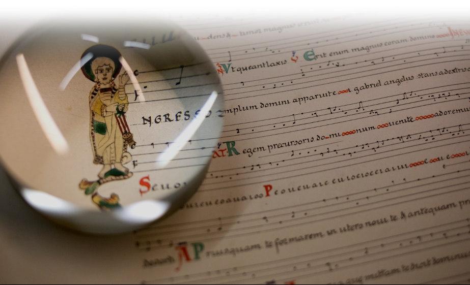 manuscrit de chant grégorien Solesmes